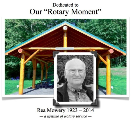 Rea Mowery - our rotary moment dedication c